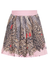 Paul And Joe Short Feather Print Skirt