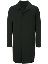 Attachment Single Breasted Coat Black