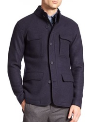 Z Zegna Three In One Wool Jacket Dark Blue