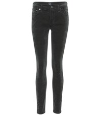 Citizens Of Humanity Rocket Velvet High Rise Skinny Jeans Black