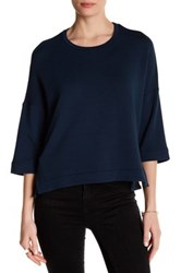 Heather By Bordeaux Boxy Pullover Blue