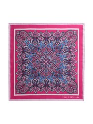Paul Costelloe Pink Ornate Paisley Pocket Square
