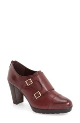 Bella Vita Women's 'Zia' Double Monk Strap Pump Burgundy Leather