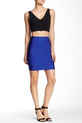 Vertigo Bandage Zip Back Skirt Blue
