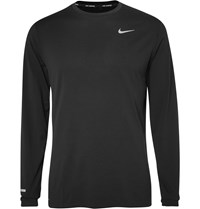 Nike Running Contour Dri Fit T Shirt Black