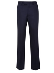 Chester Barrie Birdseye Tailored Fit Suit Trousers Navy