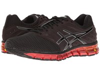 Asics Gel Quantum 180 2 Black Onyx Vermillion Men's Running Shoes