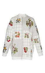 Rahul Mishra Checkered Berry Bomber Jacket Multi