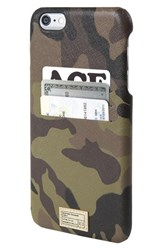 Hex 'Solo' Iphone 6 Plus And 6S Plus Wallet Case Brown Camo Leather