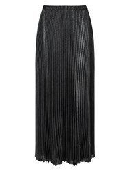 Jacques Vert Foil Pleat Maxi Silver Metallic