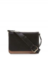 Kc Jagger Charlotte Leather Colorblock Crossbody Bag Black