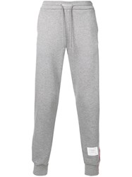 Thom Browne Rwb Stripe Loopback Sweatpants Grey