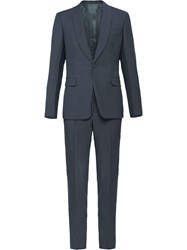 Prada Slim Fit Two Piece Suit Grey