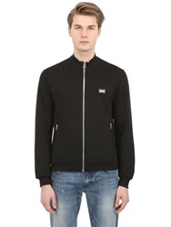 Dolce And Gabbana Zip Up Cotton Silk Blend Sweatshirt