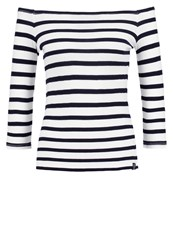Superdry Long Sleeved Top Flag Navy White