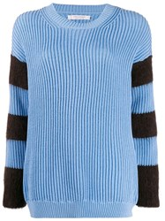 Chinti And Parker Striped Ribbed Knit Jumper 60