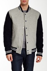 Gant The Winter Varsity Wool Jacket Gray