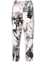 A.F.Vandevorst Mid Rise Printed Trousers White