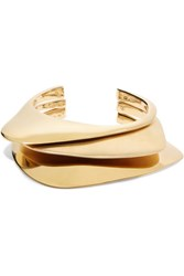 Charlotte Chesnais Ada Set Of Three Gold Plated Cuffs