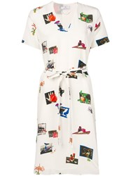 Paul Smith Ps Graphic Print Shirt Dress White