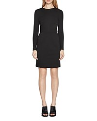 French Connection Lula Stretch Long Sleeve Dress Black