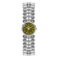 Orla Kiely Women's Stem Bracelets Strap Watch Silver Green