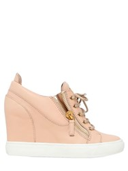 Giuseppe Zanotti 75Mm Leather Wedge Sneakers
