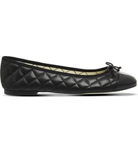 Office Cecilia Quilted Ballerina Pumps Black Leather