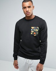 Volcom Mocket Ii Printed Pocket Crew Jumper Black