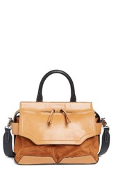 Rag And Bone Pilot Suede Leather Satchel Brown Tan Suede