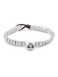 Uno De 50 All Stars Leather And Silver Bracelet