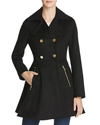 Laundry By Shelli Segal Fit And Flare Double Breasted Coat Black