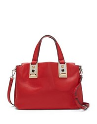 Vince Camuto Bitty Leather Satchel Cherry Red