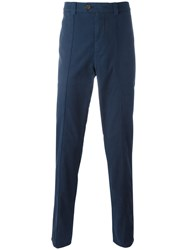 Brunello Cucinelli Plain Chinos Blue