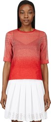 Ostwald Helgason Red Organza Gradient Boucle T Shirt