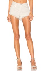 Free People Soft And Relaxed Cut Off Shorts White