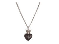 King Baby Studio Jet Day Of The Dead Crowned Heart Pendant Necklace
