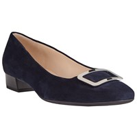 Peter Kaiser Neele Square Toe Ballet Pumps Navy