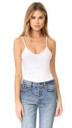 Atm Anthony Thomas Melillo Modal Rib Cami Bodysuit White