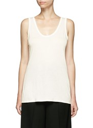 The Row 'Thomaston' Slub Jersey Tank Top White