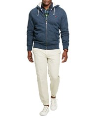 Polo Big And Tall Cotton Blend Fleece Hoodie Blue