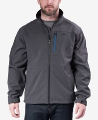 Hawke And Co. Outfitter Outfitters Men's Big Tall Fleece Jacket Dark Heather Grey