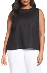 Eileen Fisher Plus Size Women's Organic Linen Shell