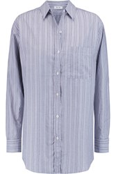 Mih Jeans Striped Cotton Shirt Gray