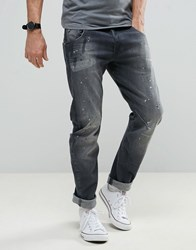 G Star Arc 3D Slim Jean Grey Wash Painted Jean Medium Aged Painted
