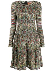 Missoni Mixed Pattern Knitted Dress Black