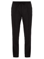 Valentino Slim Leg Wool Blend Trousers Black