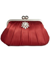 Styleandco. Style And Co. Beth Satin Clutch Red