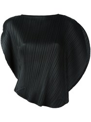 Issey Miyake Pleats Please By Pleated Blouse Black