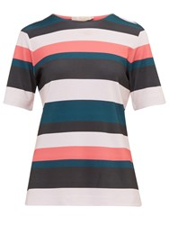 Ted Baker Colour By Numbers Ketzia Stripe Print Top Coral